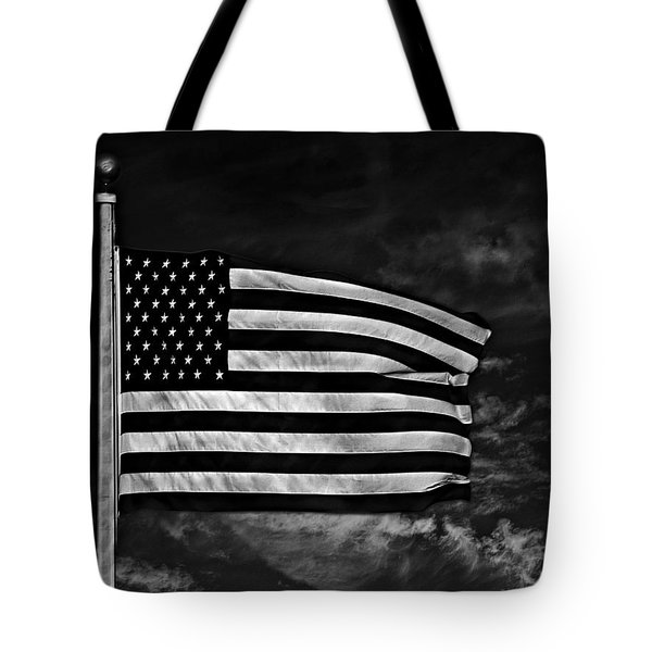 Twilight's Last Gleaming Bw Tote Bag by David Dehner