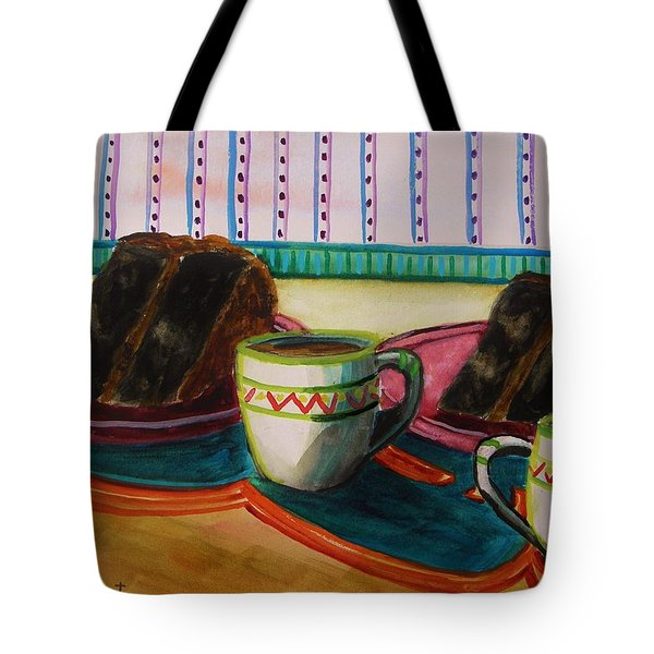 Tote Bag featuring the painting Twin Devil's Food by John Williams