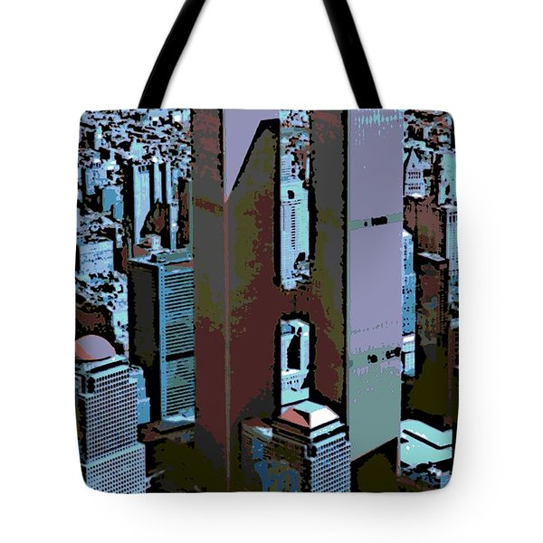 Twin Towers Tote Bag by George Pedro