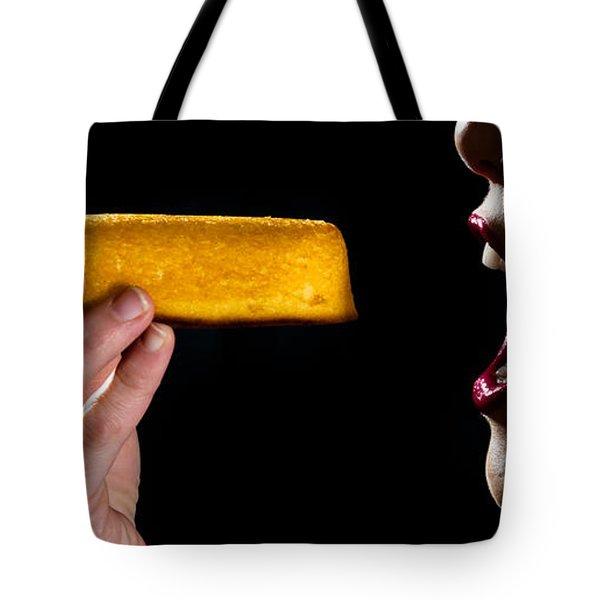 Twinkie Bite Tote Bag by Scott Sawyer