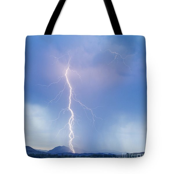 Twisted Lightning Strike Colorado Rocky Mountains Tote Bag by James BO  Insogna