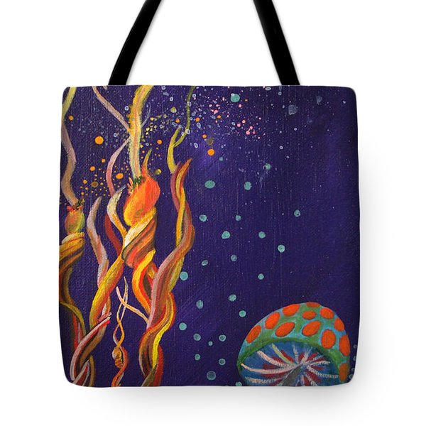 Twisting In The Night Tote Bag by Mindy Huntress