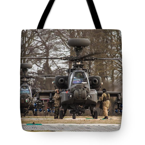 Two Ah64 Apaches Tote Bag
