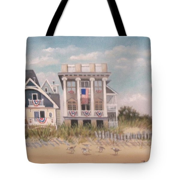 Two Different Houses On The Beach Tote Bag