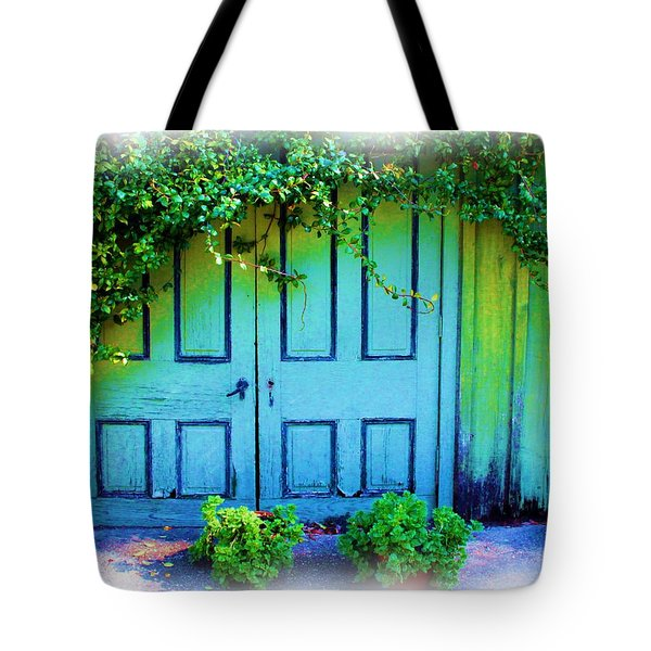 Two Doors Tote Bag by Judi Bagwell