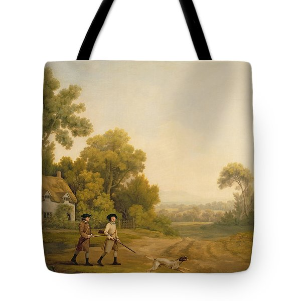 Two Gentlemen Going A Shooting Tote Bag by George Stubbs