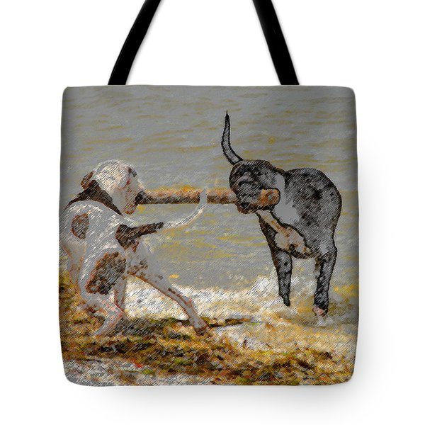 Two Good Friends Tote Bag by David Lee Thompson