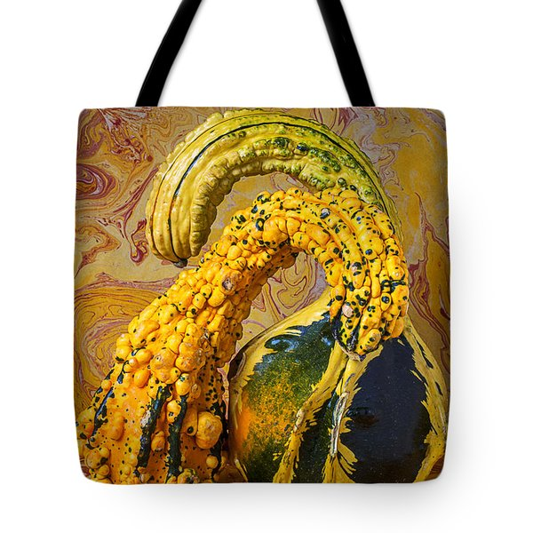 Two Gourds Tote Bag by Garry Gay