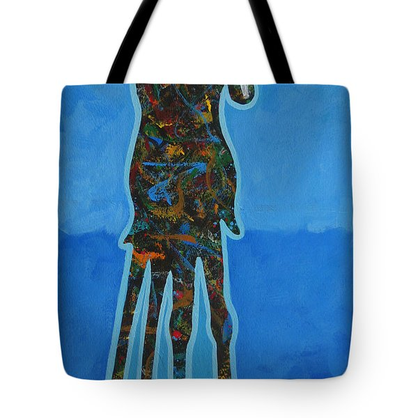 Two In Blue Tote Bag by Lance Headlee