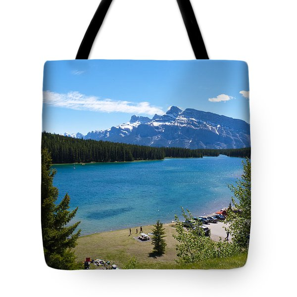Two Jack Lake Tote Bag by Bob and Nancy Kendrick