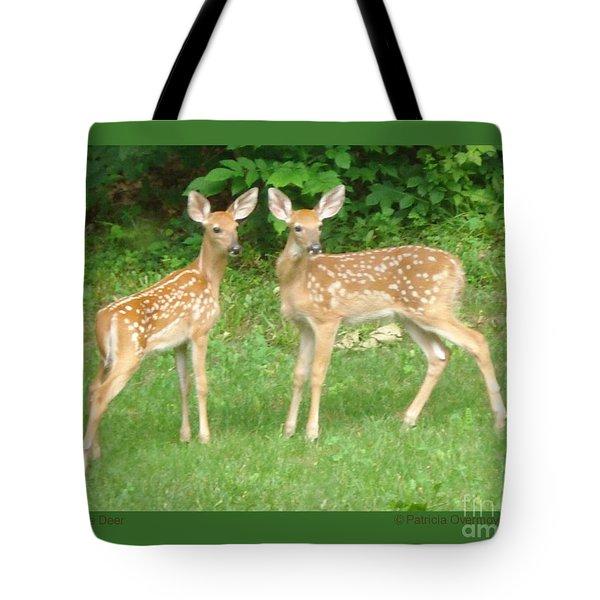 Two Little Deer Tote Bag