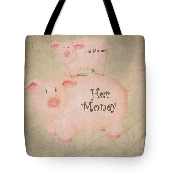 Two Little Piggies Tote Bag by Betty LaRue