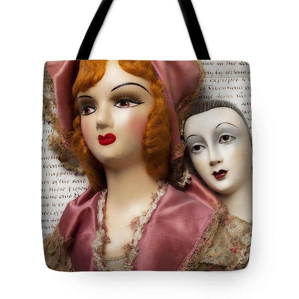 Two Old Dolls Tote Bag by Garry Gay
