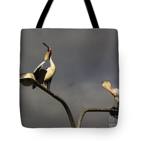 Tote Bag featuring the photograph Two On A Pole by Blair Stuart