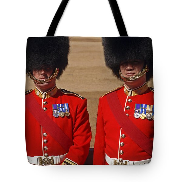 Two Warrant Officers Of The Irish Tote Bag by Andrew Chittock
