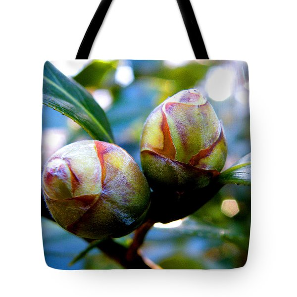 Two Young Camellia's Tote Bag