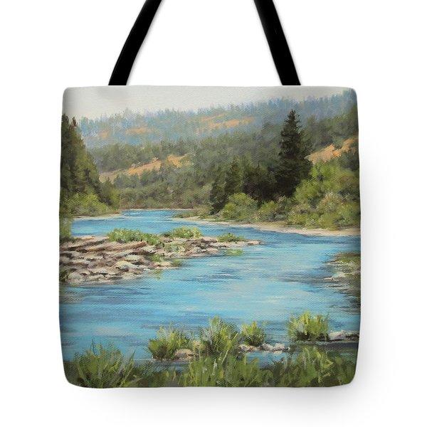Tyee Morning Tote Bag by Karen Ilari
