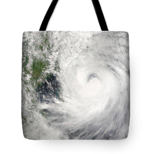 Typhoon Prapiroon Tote Bag by Stocktrek Images