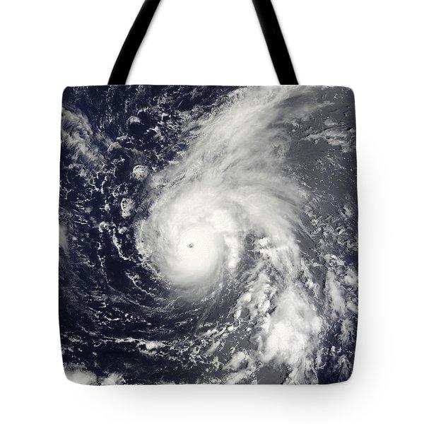 Typhoon Vamco In The Pacific Ocean Tote Bag by Stocktrek Images