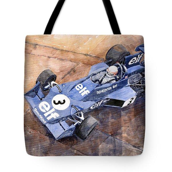 Tyrrell Ford 007 Jody Scheckter 1974 Swedish Gp Tote Bag by Yuriy  Shevchuk