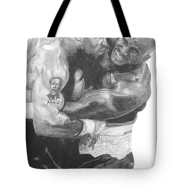 Tyson Vs Holyfield Tote Bag