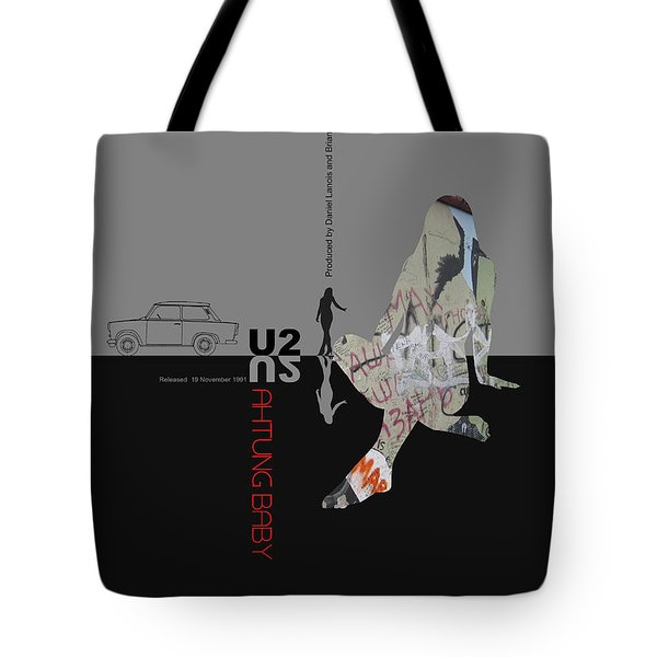 U2 Poster Tote Bag by Naxart Studio