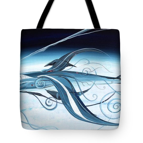 U2 Spyfish - Spy Plane As Abstract Fish - Tote Bag by J Vincent Scarpace