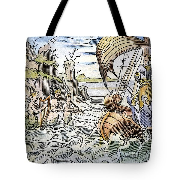 Ulysses, Tied To The Mast Tote Bag by Granger