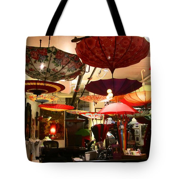 Umbrella Art Tote Bag by Kym Backland