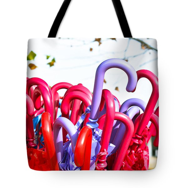 Umbrellas Tote Bag by Tom Gowanlock
