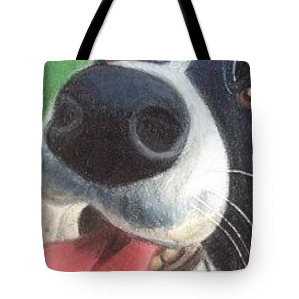 Tote Bag featuring the drawing Unconditional Love - Aceo by Ana Tirolese