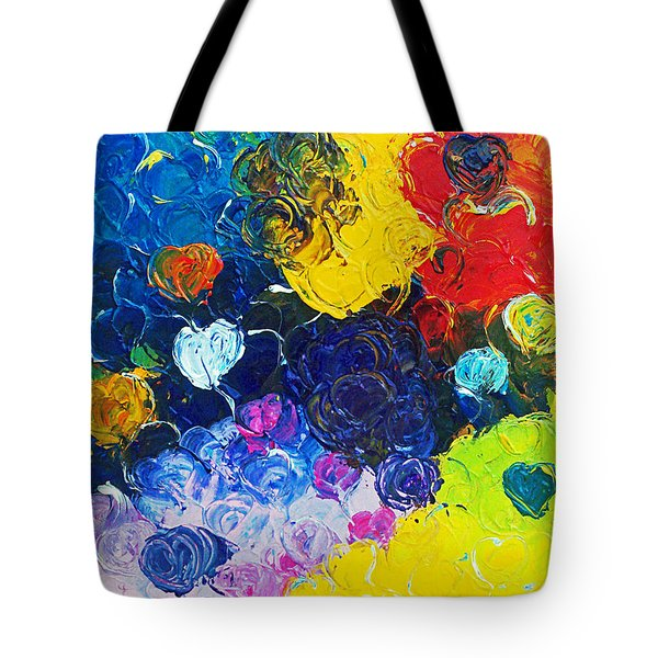 Tote Bag featuring the painting Unconditional Love by Ania M Milo