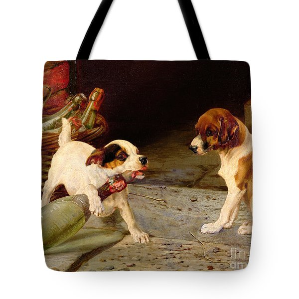 Uncorking The Bottle Tote Bag by William Henry Hamilton Trood