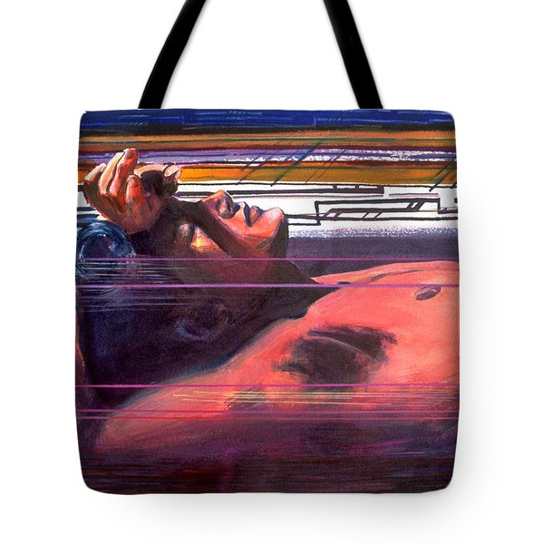 Tote Bag featuring the painting Under Lying Currents by Rene Capone