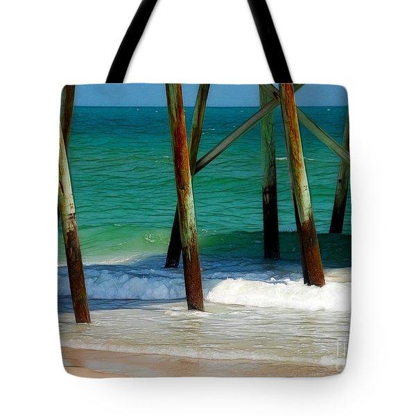 Under The Boardwalk Tote Bag by Judi Bagwell