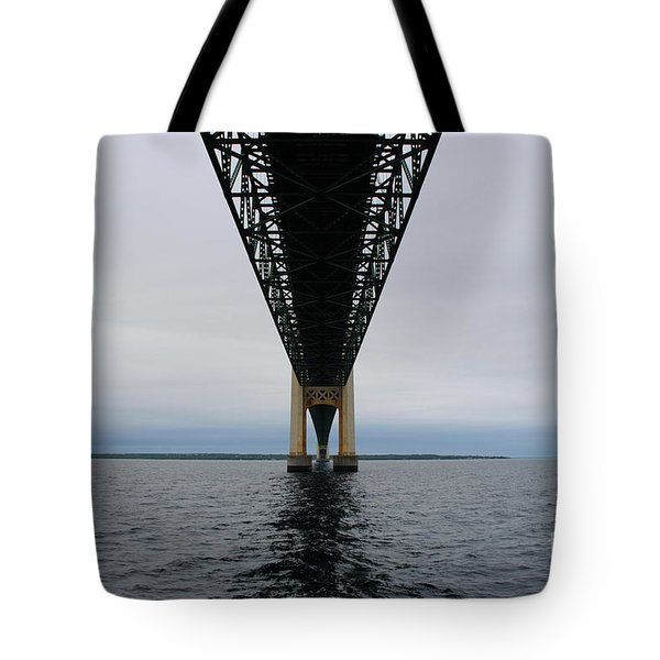 Under The Mackinac Bridge Tote Bag