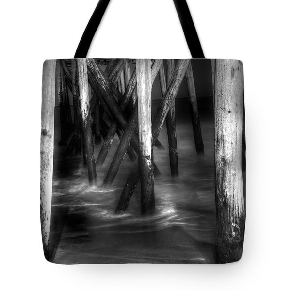 Under The Pier Tote Bag by Paul Ward