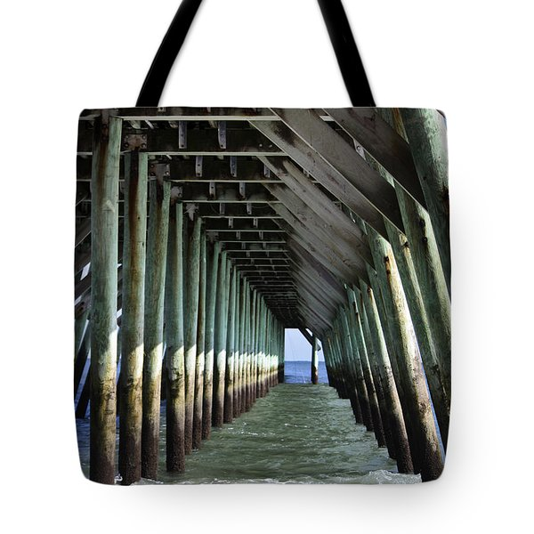 Under The Pier Tote Bag by Teresa Mucha