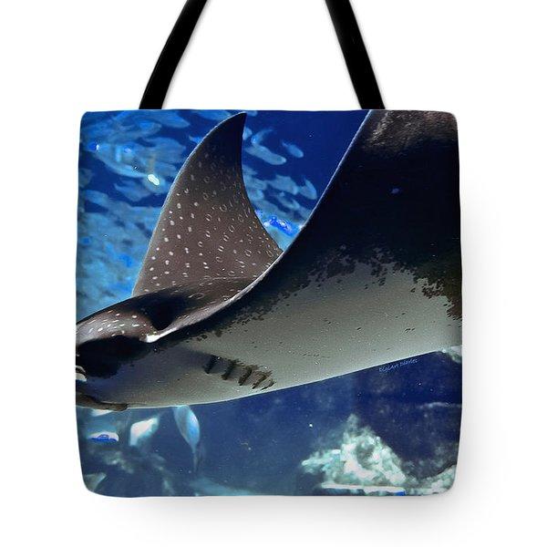 Underwater Flight Tote Bag by DigiArt Diaries by Vicky B Fuller