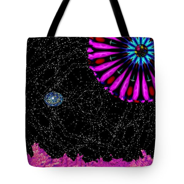 Unexpected Visitor Tote Bag by Alec Drake