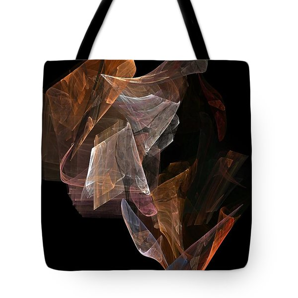Tote Bag featuring the digital art Unfolding by John Pangia