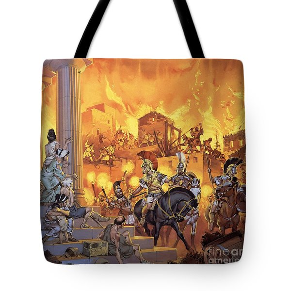 Unidentified Roman Attack Tote Bag by Angus McBride