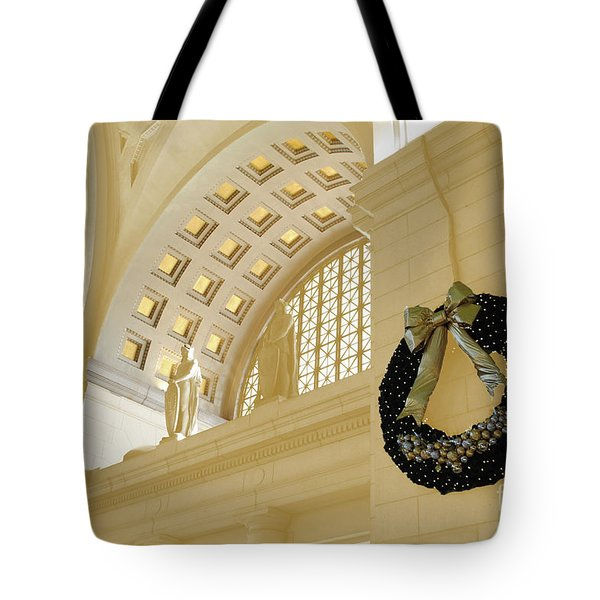 Union Station Holiday Tote Bag by Jost Houk