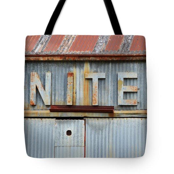 United Rusted Metal Sign Tote Bag