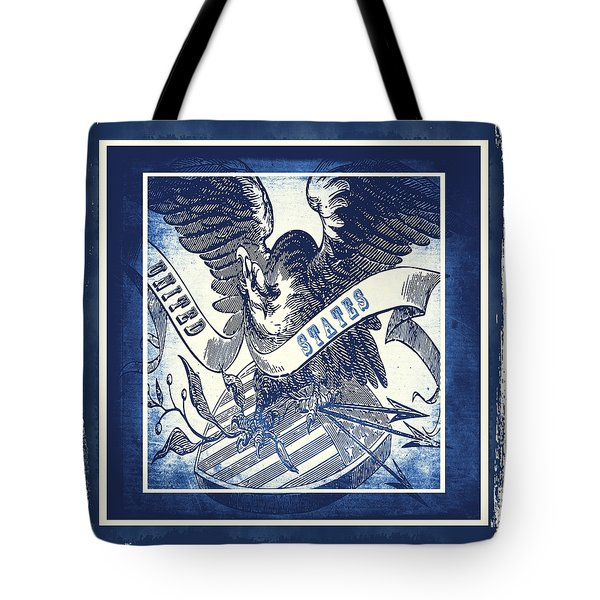 United States Blue Tote Bag by Angelina Vick