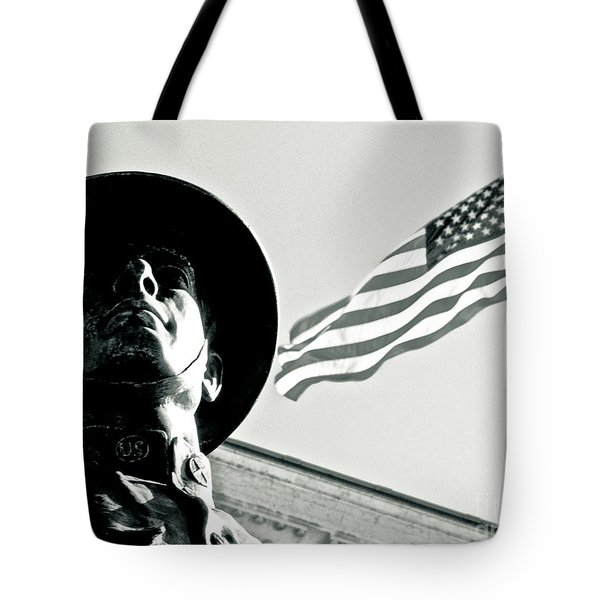 United We Stand Theme Tote Bag by Syed Aqueel