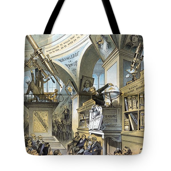 Universal Church Of The Future, 1883 Tote Bag by Science Source