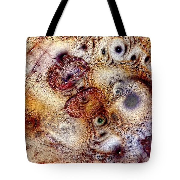 Tote Bag featuring the digital art Unphased And Confused by Casey Kotas