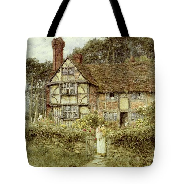Unstead Farm Godalming Tote Bag by Helen Allingham