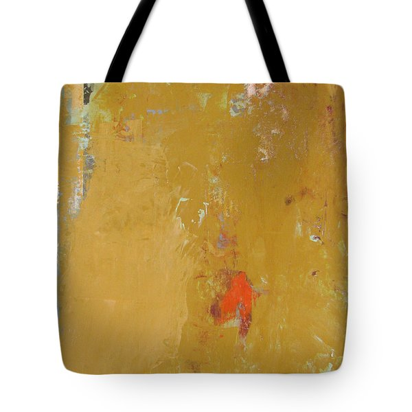 Untitled Abstract - Ochre Cinnabar Tote Bag by Kathleen Grace